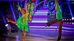 Chelsee and Pasha at Strictly Come Dancing Quarter Finals