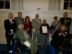 West Berks Mencap receive the Queen's Award For Voluntary Service
