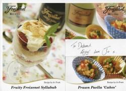 Jo Pratt's Exclusive Recipes For Freixenet