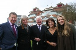Bill Turnbull, Lady Blyth, Sir Chay Blyth, Leila Ferguson and Linda Tillotson at WB Mencap Race Day