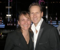 Brendan Cole meeting one of the Gecko Team